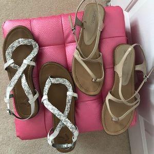 Shoes - Flat Sandals EUC - 2 pairs.